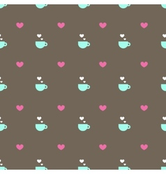 Flat minimalistic tea or coffee cup seamless vector