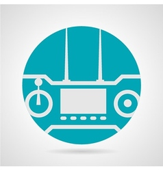 Flat icon for remote game controller vector image
