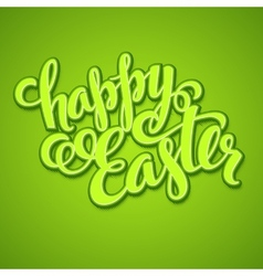 Title happy easter hand drawn lettering vector