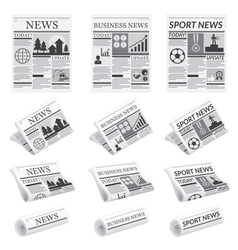 News sport business newspaper vector