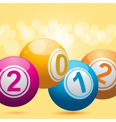 3d new year bingo balls vector