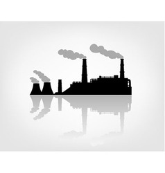 Factory silhouette on the white background vector