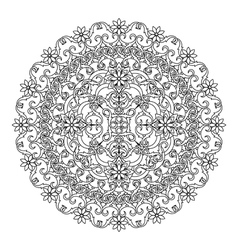 Mandala ethnic religious design element with a vector