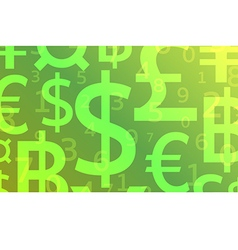 Currency background vector