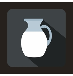 Jug of milk icon flat style vector