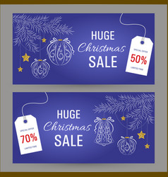 abstract christmas sale banner vector image vector image