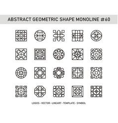 Abstract geometric shape monoline 60 vector