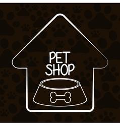 Animals pet shop graphic vector
