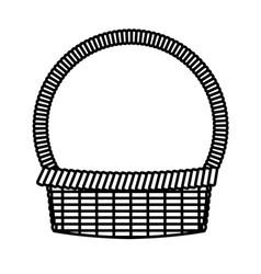 basket easter celebration ornament line vector image