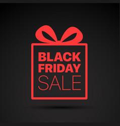 Black friday sale red logo concept vector