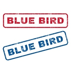 Blue bird rubber stamps vector