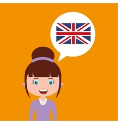 England education online design girl vector