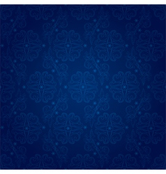 Floral seamless pattern on blue background vector image