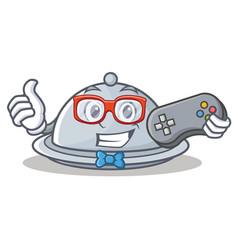Gamer tray character cartoon style vector