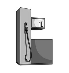 Gas station for carscar single icon in monochrome vector
