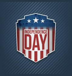 Happy independence day usa label vector