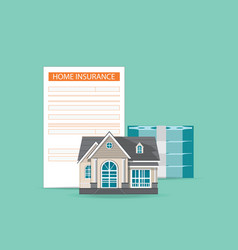 House insurance concept isolated on background vector