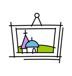 icon frame vector image vector image