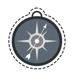 Isolated compass design vector image vector image