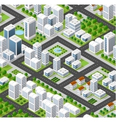 isometric city landscape vector image vector image