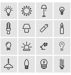 line light icon set vector image
