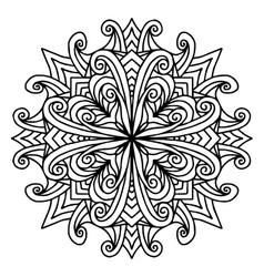 Mandala coloring page doodle vector image vector image
