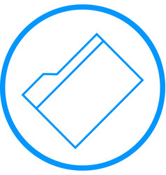 Manila folder line icon vector
