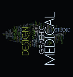 Medical graphic design text background word cloud vector