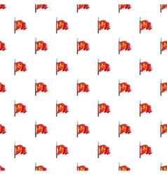 Medieval knight flag pattern cartoon style vector image