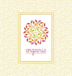organic and natural emblem vector image vector image