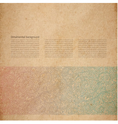 Ornate background with copy space vector