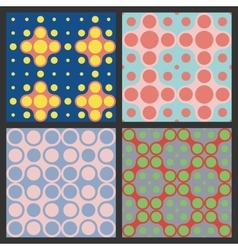 Pattern of circles Colorful vector image vector image