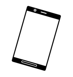 silhouette black smartphone screen mobile digital vector image vector image