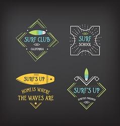 Surf vintage elements Retro logo board Hawaii vector image vector image