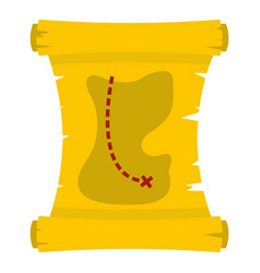 Treasure map icon isolated vector