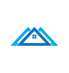 triangle house logo vector image vector image