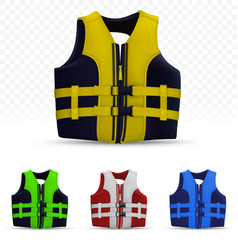 Unisex life vest isolated on transparent vector