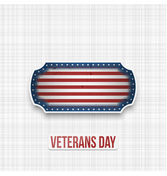 veterans day usa patriotic label vector image