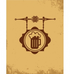 vintage bar sign post vector image