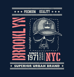 Vintage urban typography t-shirt graphics vector
