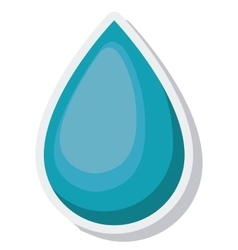 Water drop ecology isolated icon vector