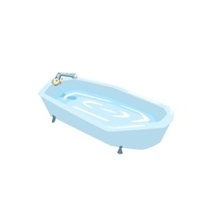 Bath Tub Filled With Water vector image