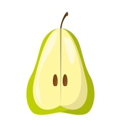 Pear fresh fruit isolated icon vector