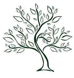 tree design element vector image