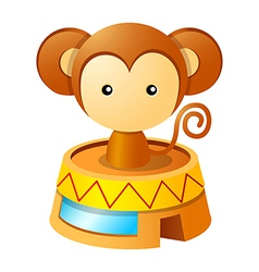 Icon toy monkey vector