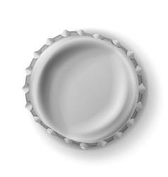 Beer cap  curved beer cap realistic vector