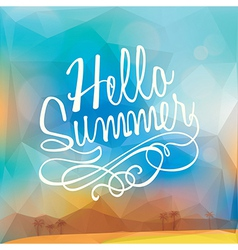 Abstract summer holiday polygon poster background vector