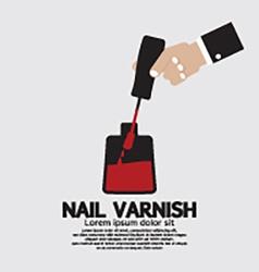 Nail Varnish Manicure Apply vector image