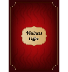 Red coffee menu cover vector image