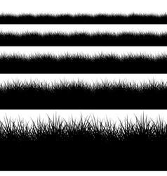 Modern black grass set on white vector